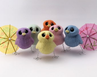 Needle Felted Pastel Chick Choose Your Colours