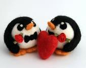 Penguin Gay Wedding Cake Topper, Wedding Penguins, Groom and Groom, Mr and Mr, Customisible Wedding Cake Topper