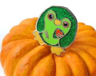 Zombie Penguin Pin, Enamel Penguin Pin, Penguin Badge, Cute Pin, Lapel Pin