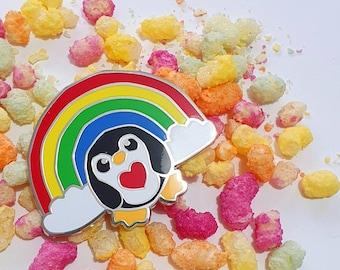 Epic Rainbow Penguin Hard Enamel Pin