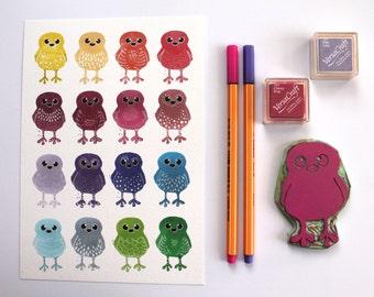 Sale A5 Rainbow Doodle Birds Print