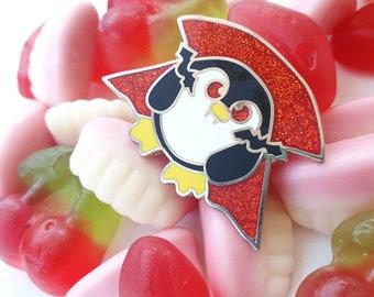 Vampire Penguin Pin, Enamel Penguin Pin, Penguin Badge, Cute Pin, Lapel Pin, Halloween Pin
