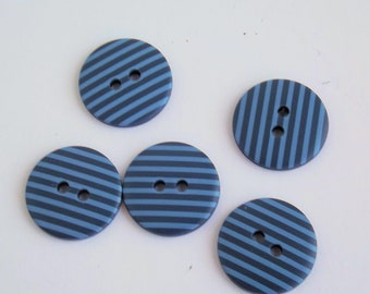 g440328 6 Pink Stripe Round Button Round Button 18mm Button 2 hole buttons