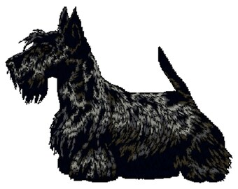 Scottie, Scottish Terrier Dog Embroidered Towels, Dog Towels, Personalised Towels, Scottie 19