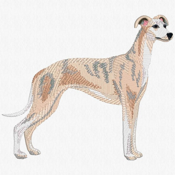WHIPPET embroidered tote bag ANY COLOR
