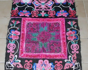 Textiles -  Hmong Baby Carrier/ Hmong / Miao fabric / Hmong embroidery panels - 2100
