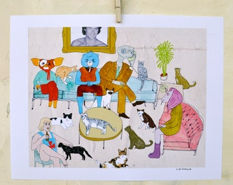 Art, Print, My Little Pony, Cats, Humor, Interior design, 80's, Gift, I'm Living Too Much in 82