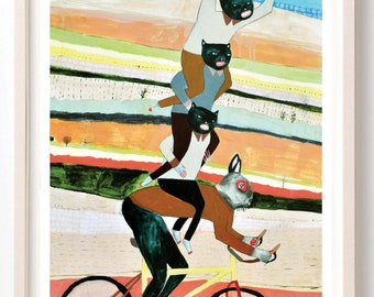 Print, Animal Lover, Nature, Humor, Poster, Bike, Bicycle, Colorful, Remember That Time When Cornelius Touched The Sun?- fine art print