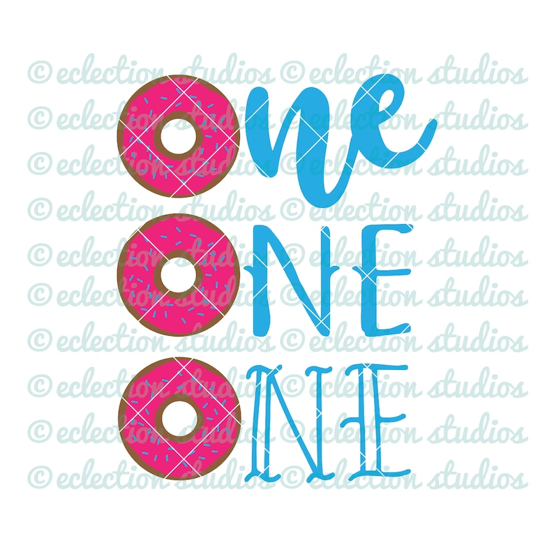 Donut SVG One SVG first birthday donut theme birthday image 0