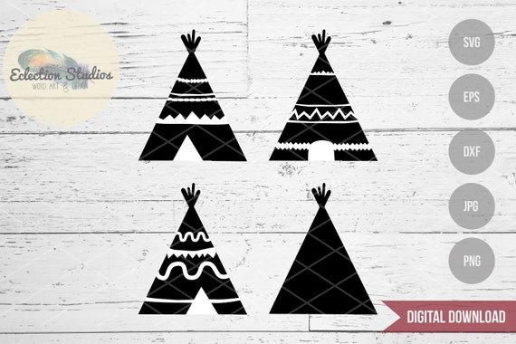 Teepee Svg Indian Aztec Tipi Native American Tribe Wild Etsy