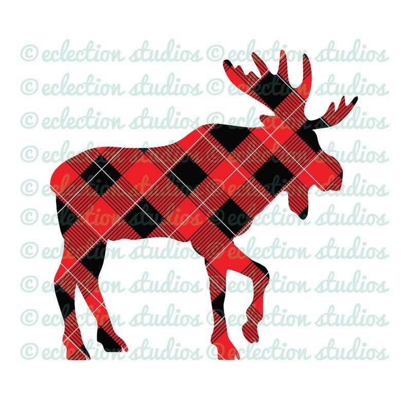 e676c498 Buffalo Plaid Moose woodland animal lumberjack hipster boy   Etsy