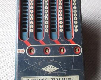 Vintage Wolverine Mechanical Adding Machine