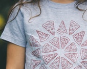 Pizza shirt Kids Toddler tshirt - food art USA made tee gift for boy gift for girl pizza art