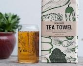 Pint Glass and Tea Towel Set Vegetable design