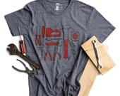 Tools Shirt Mens screenprinted tee USA made