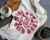 Tea Towel Pinecones screen print kitchen towel