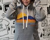 Burlington Vermont Sweatshirt USA made Vintage inspired Camels Hump Unisex