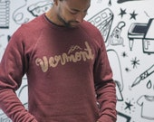 Vermont Script Crew Neck Sweatshirt Typography Inspired Unisex fit