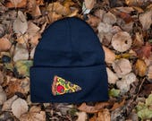 Pizza Knit Hat USA made