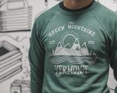 Green Mountains of Vermont Crew Neck Sweatshirt  - Green