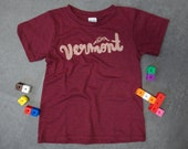 Vermont Script Tee for Baby, Toddler, and Kids