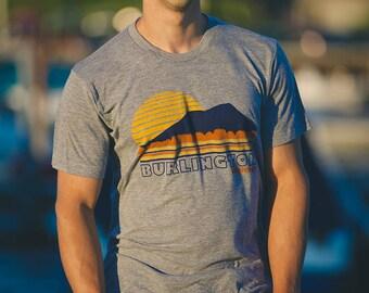 Burlington Vermont shirt screenprinted tee vintage inspired camels hump