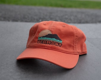 NEW Dad Hat - Vermont Sunset Design - Soft cotton hat 5 panel hat baseball hat gift for him fathers day gift