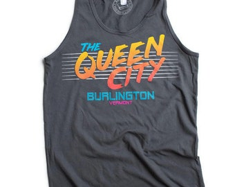 Queen City Tshirt Mens tank Burlington Vermont