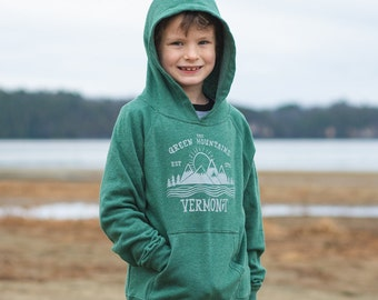 Green Mountain Sweatshirt for Kids Cozy vermont hoodie youth