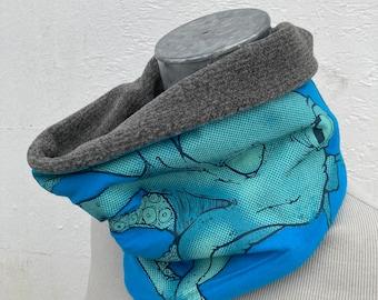 Fleece Cowl - Neckwarmer - Tentacle - Octopus winter apparel snowboard ski vermont gift for him