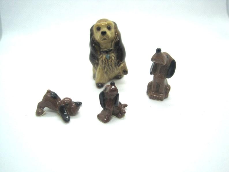 Hagen Renaker miniature made in America Cocker Puppy playing