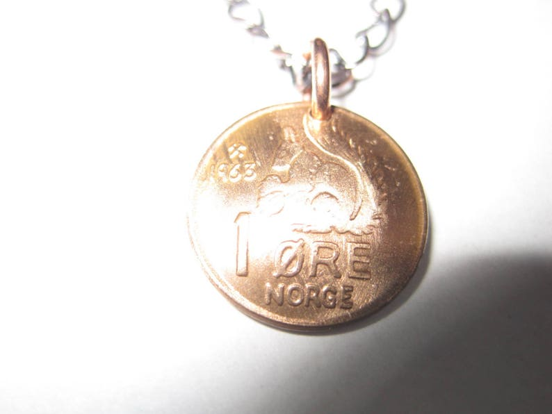 Antique Norway squirrel coin necklace-handmade in the USA-free shipping