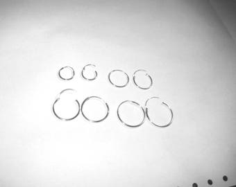 Sterling silver endless hoop earrings-4 pair-wear and share!
