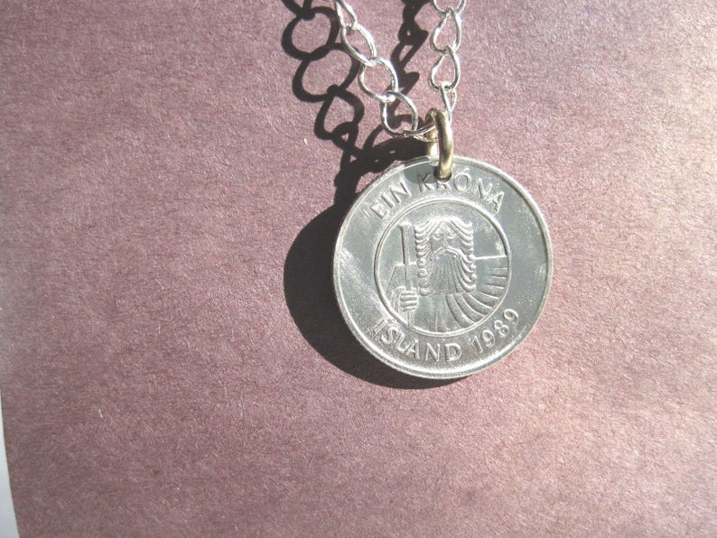 Iceland Hairy Viking coin necklace
