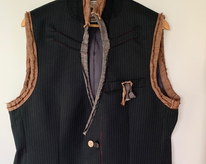 Reconstructed mens vest - med/large 42
