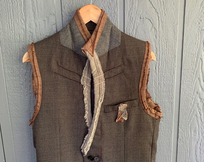 Reconstructed mens vest (SALE)- small 38