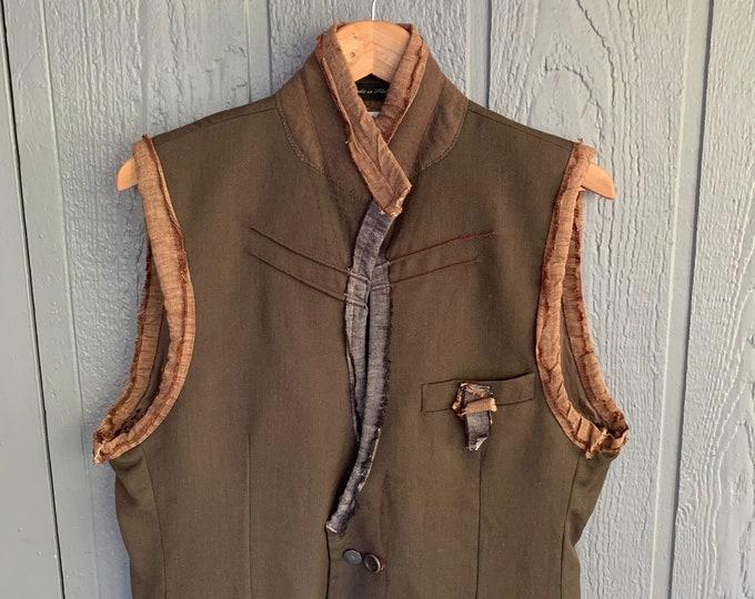 Reconstructed mens vest (SALE)- SIze 40