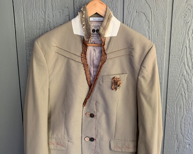 Reconstructed mens jacket (SALE)- Size 42