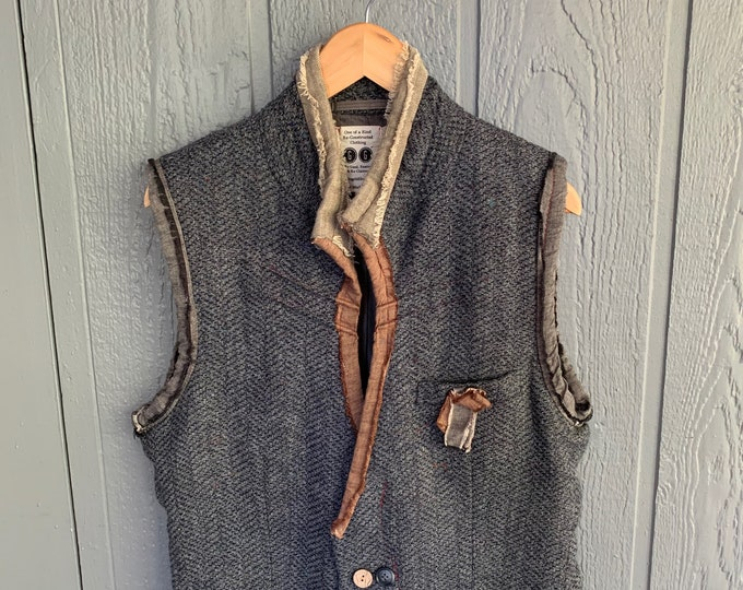 Reconstructed mens vest (SALE)- medium