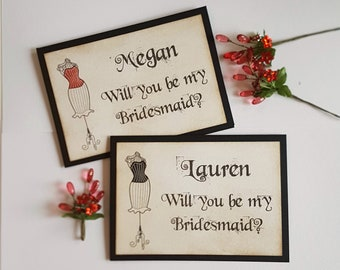 Gothic Wedding Cards, Halloween Bridesmaid, Be My Bridesmaid, Vampire Bride, Halloween Wedding