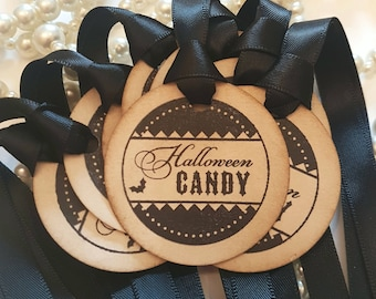Halloween Tags, Halloween Candy, Treat Bag Tags, Halloween cards, Halloween Decoration