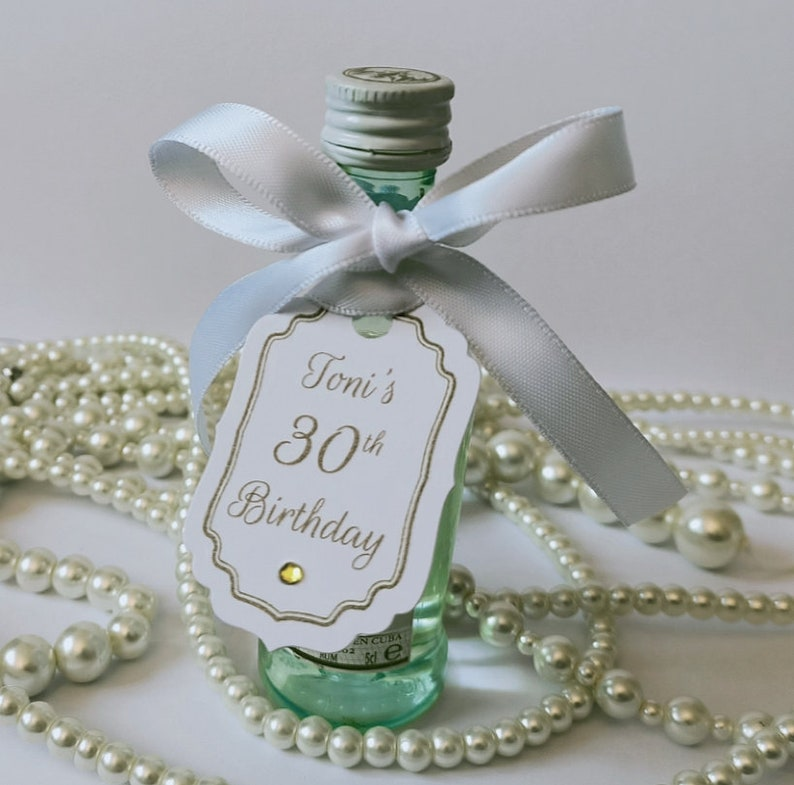 Personalised Favour Tags Birthday Gift Tags White Favour Tags Custom Favour Tags