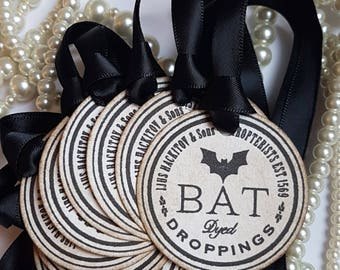 Halloween Tags, Candy Bag Labels, Bat Droppings, Halloween Wedding, Halloween Favours