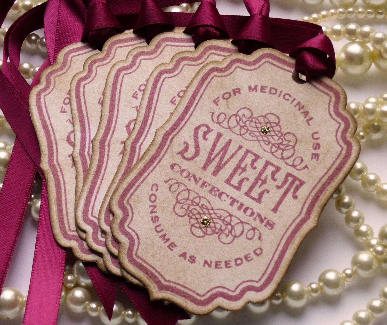 Marsala Wedding Favors Wedding Favor Tags Candy Buffet Tags | Etsy