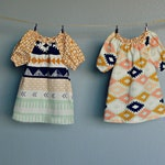 Coordinating Sister Fall dress Southwest Aztec mustard yellow Mint navy blush baby toddler girl sibling outfit Fall photoshoot Thanksgiving