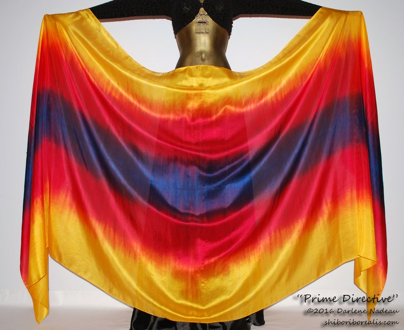 Belly Dance Silk Veil  Rectangle 3 yard hand dyed China image 0