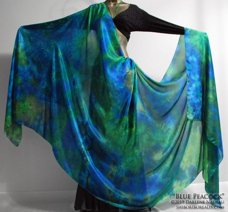 Belly Dance Silk Veil  Rectangle 3.3 yards hand dyed China image 0