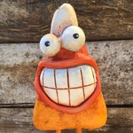 Art Sculpture Halloween Candy Corn  Paper Mache - Justin