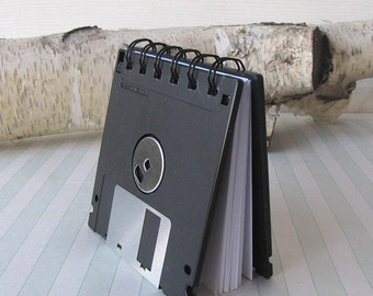Recycled Geek Gear Blank Floppy Disk Mini Notebook in Black