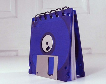 Floppy Disk Notebook Neon Royal Purple Recycled Geek Gear Blank